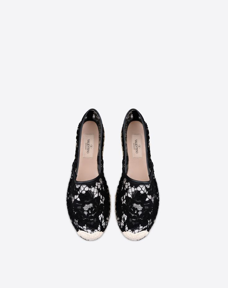 Are you looking for Valentino Lace Espadrilles? Find out all the details at Valentino Online Boutique and shop designer icons to wear.