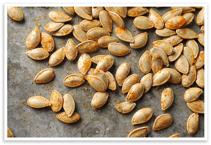 Toasted Pumpkin Seeds from @Amy Johnson of She Wears Many Hats
