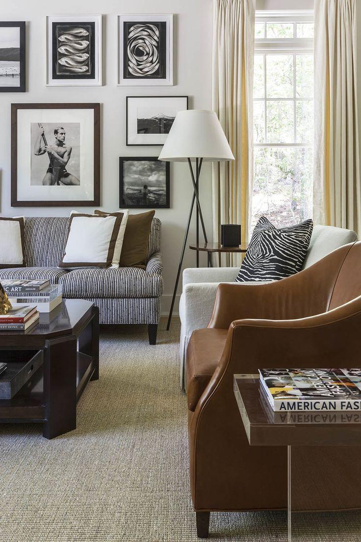 Hampton Designer Showhouse 2015  Library  Living  American  Coastal  Contemporary  Modern  Transitional by Robert Brown Interior Design