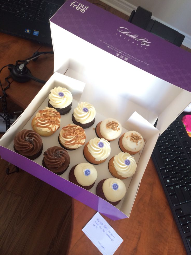 Cupcake delivery from my friend