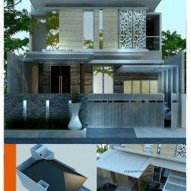 Desain Rumah Modern Minimalis 2 Lantai Kel Bp Andri Herawan Sasoko