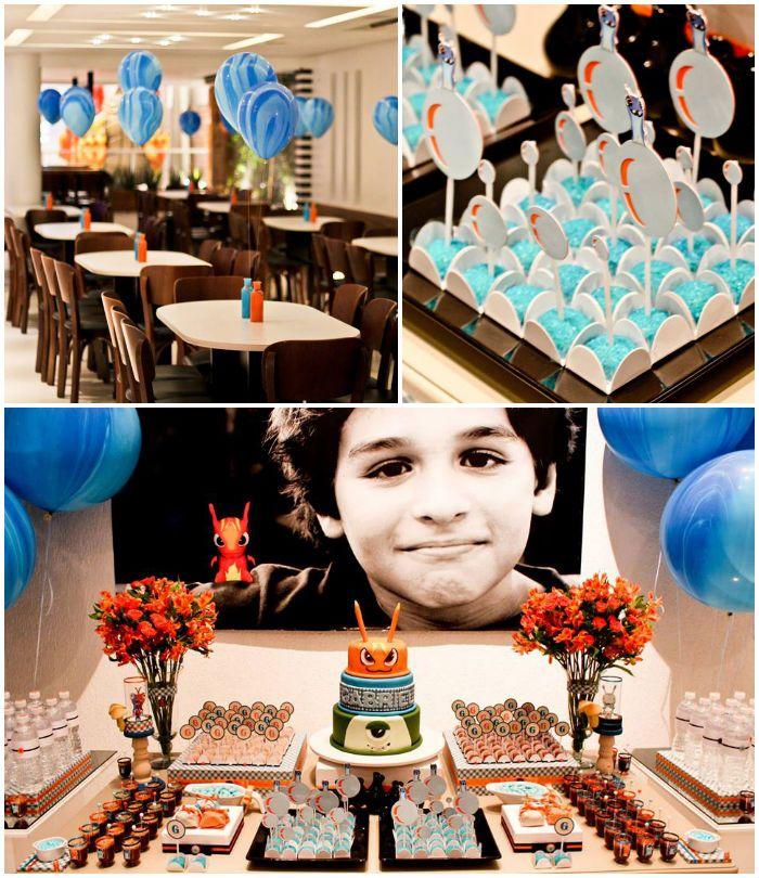 Slugterra themed birthday party via Kara's Party Ideas | KarasPartyIdeas.com Cakes, printables, favors, decor, games, and more! #slugterraparty #slugterra #partydecor #eventstyling #partyideas (2)