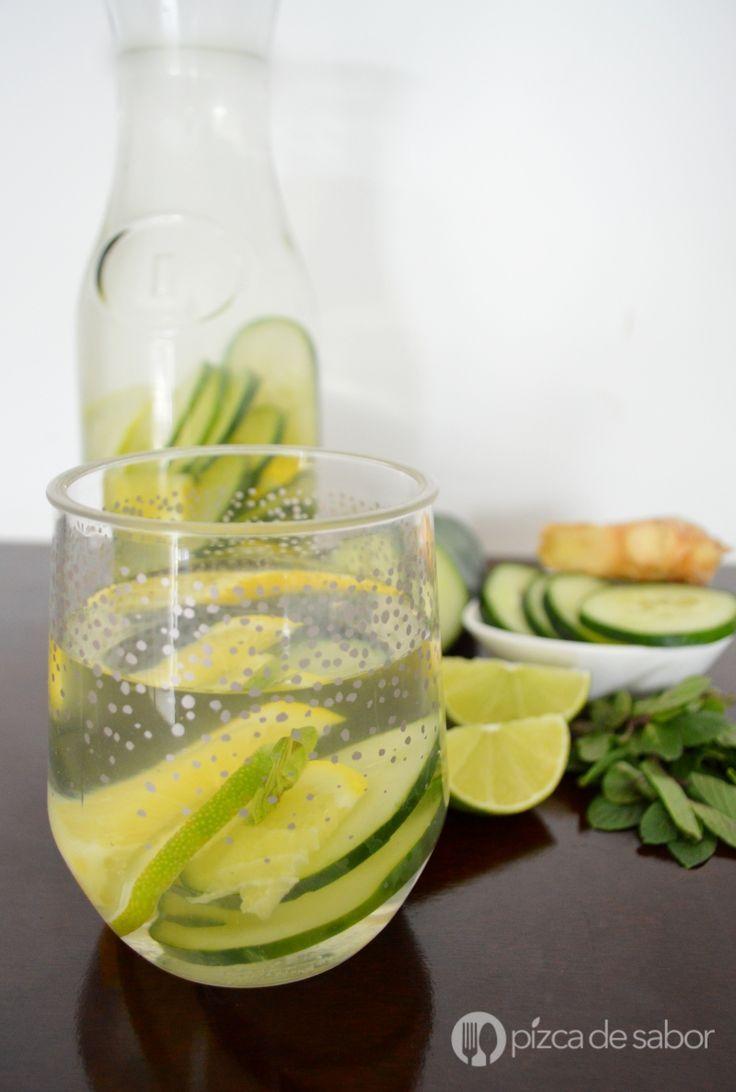Agua detox o para eliminar toxinas www.pizcadesabor.com