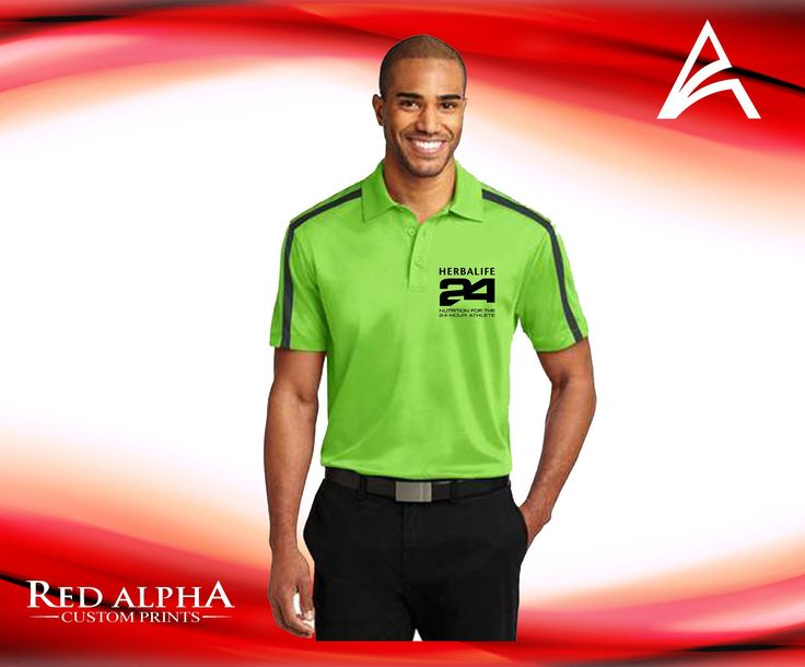Herbalife 24 Fit Embroidered Polo
