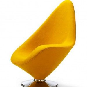 Cool Modern Yellow Swivel Chair For Living Room ...