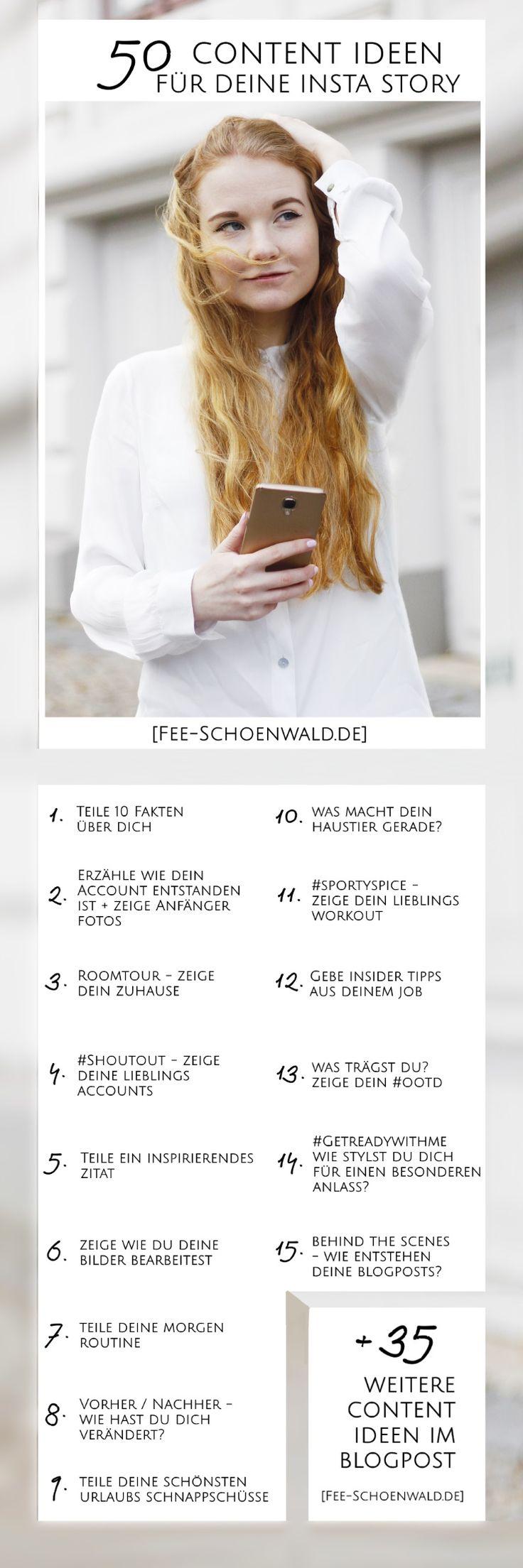 Fee Schoenwald Blogger Tipps 50 Content Ideen Instagram Story