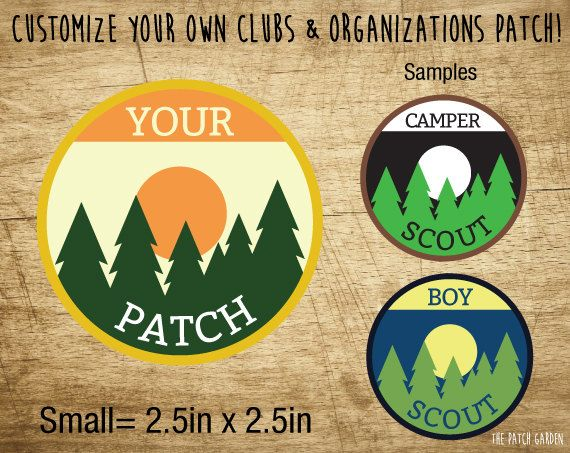 Custom Camping Patches - Boy Scouts and Girl Scouts Camping Patch