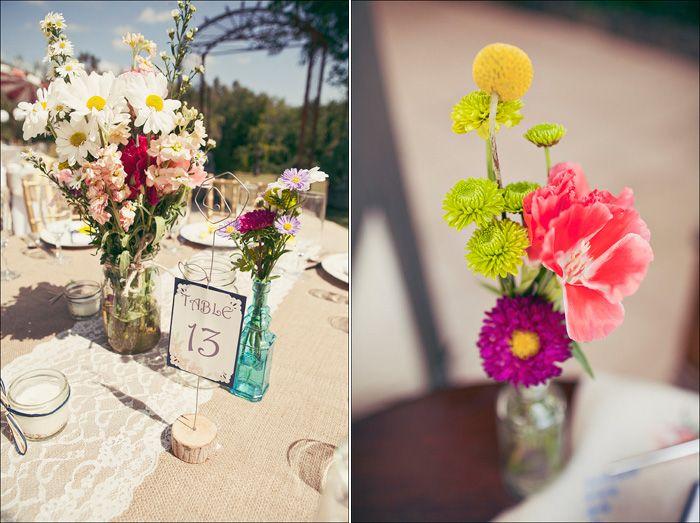 lovely flower arrangements.