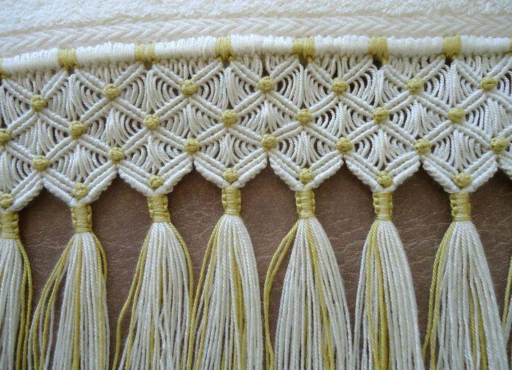 kit de toalhas com macramé e sianinha