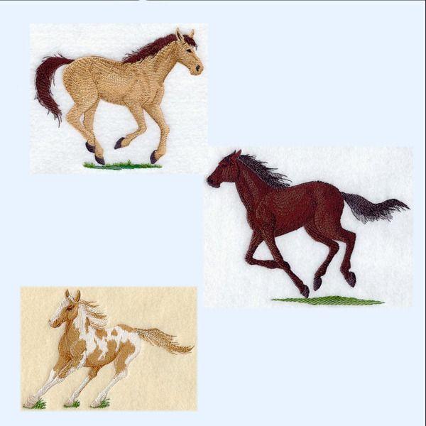 """Stickapplikationen - """"Pferde - naturgetreu""""  div.Aufnäher - ein Designerstück von stick-app bei DaWanda"""