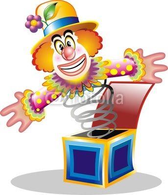 Smiling Clown Cartoon Toy © Bluedarkat