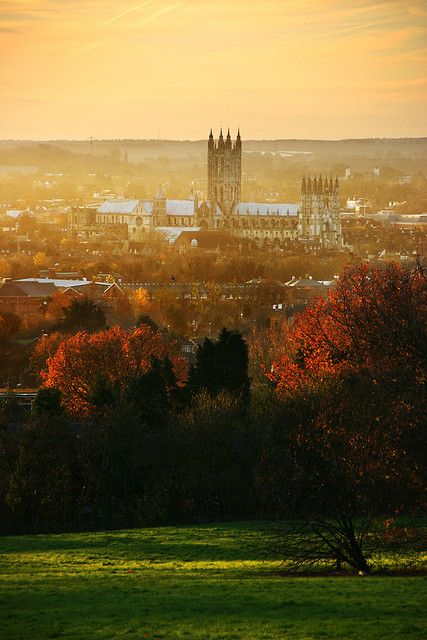 Canterbury Cathedral from University of Kent,Canterbury, Kent, England