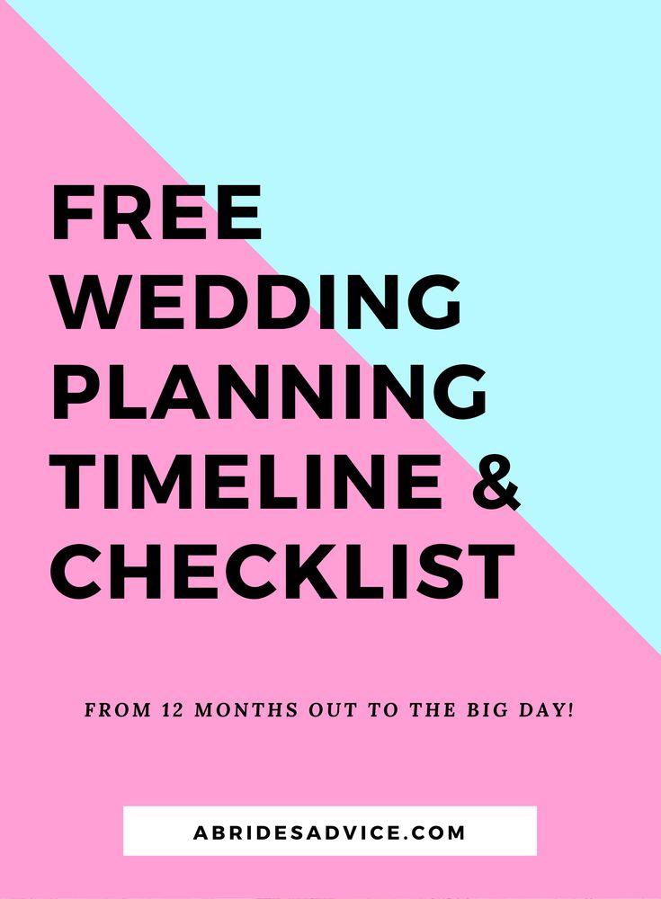 Free 12 month wedding planning timeline & checklist | Wedding Planning Blog | Wedding Planning Timeline | A Bride's Advice