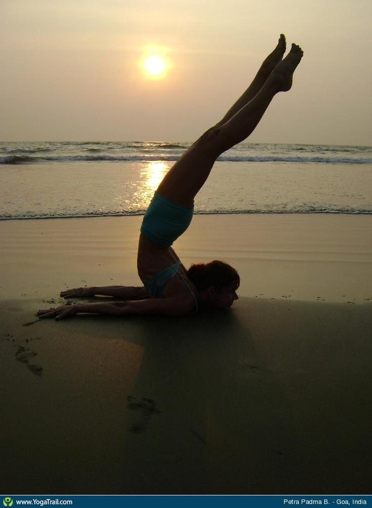 "Yoga Poses Around the World: ""Scorpion Variation in Goa, India"""