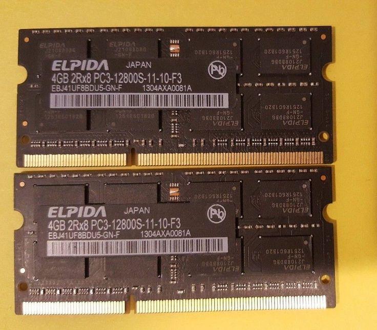 ELPIDA 8GB (2x4GB) 2Rx8 PC3-12800S-11-10-F3 Memory (RAM) DDR3