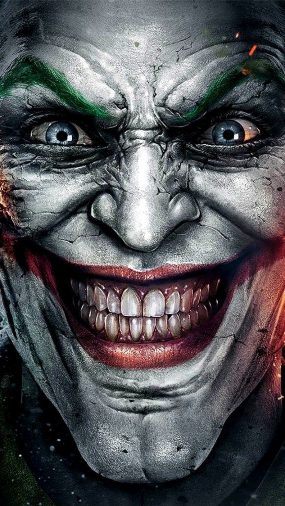 The Joker Face Close Up iPhone 5 Wallpaper