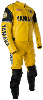 Yamaha Motorcycle Yellow Racing Leather Suit Jacket Pants Safety Protected Men - Outerwear