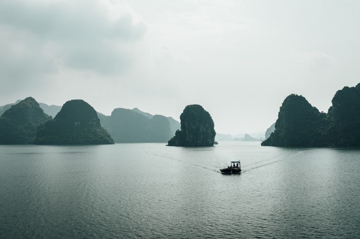 Going home - Taken from the top flor of a junk during a trip through halong bay, vietnam.