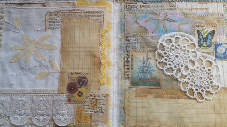"Mixed Media Fabric, Lace & Paper Journal ""How To"" Video Part #1 (pages)"