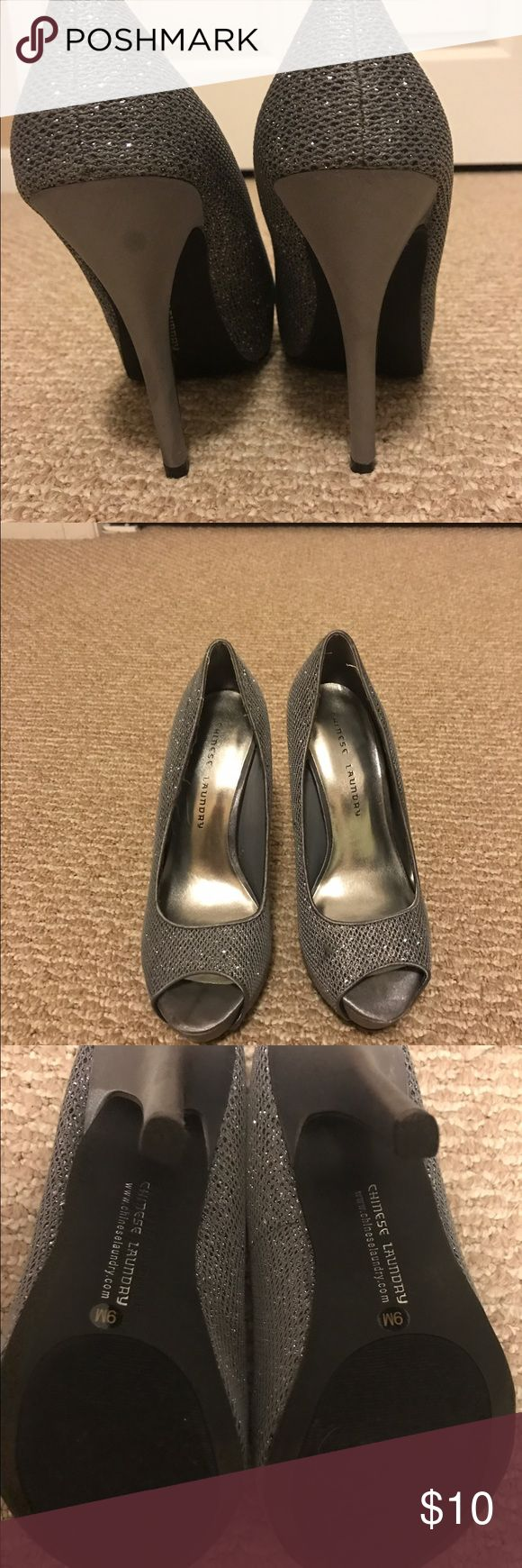 Pumped shoes Sparkly Silver pumps 👠 high hill N/A Shoes Heels