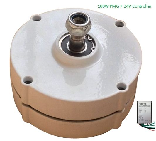 106.02$  Watch here - http://alivl6.worldwells.pw/go.php?t=32690785055 - Hot Sale 100w 24v brushless permanent magnet generator with regulator 106.02$