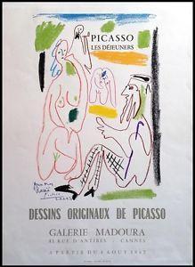 Picasso Original-Plakat / Poster Les Déjeuners - Galerie Madoura Cannes 1962   eBay