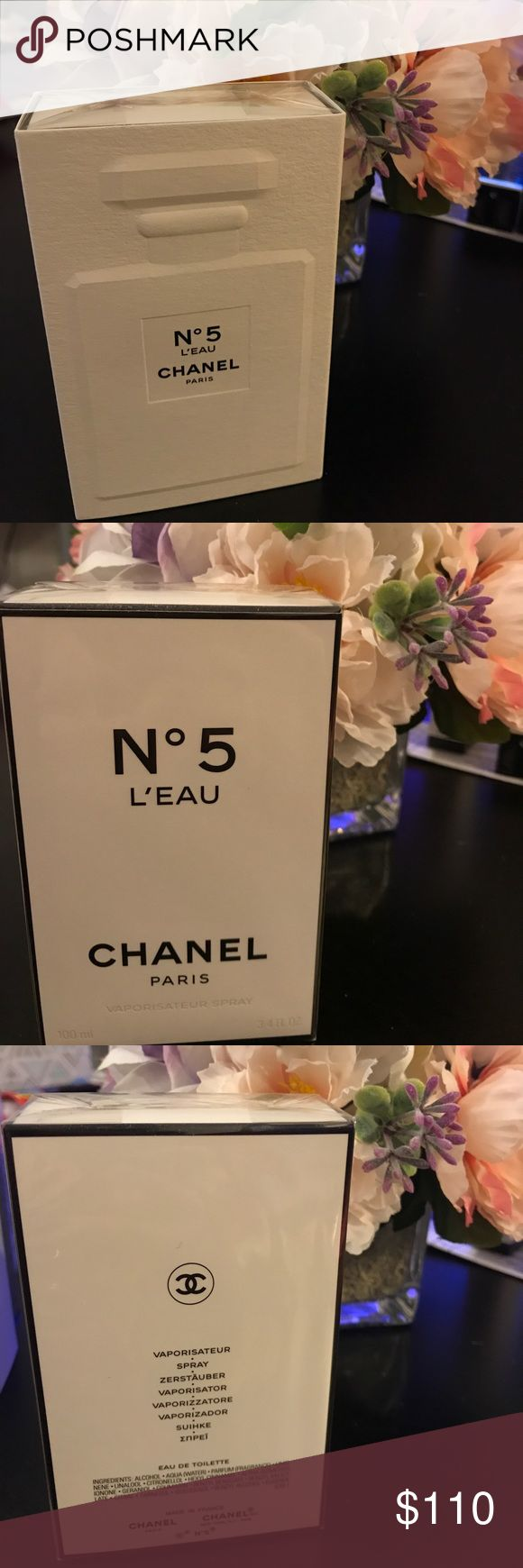 Chanel N5 l'eau Vaporisateur Spray EDT 3.4 FL OZ BRAND NEW. Sealed. Chanel N5 l'eau Vaporisateur EDT Spray 3.4 FL OZ 100ml CHANEL Makeup