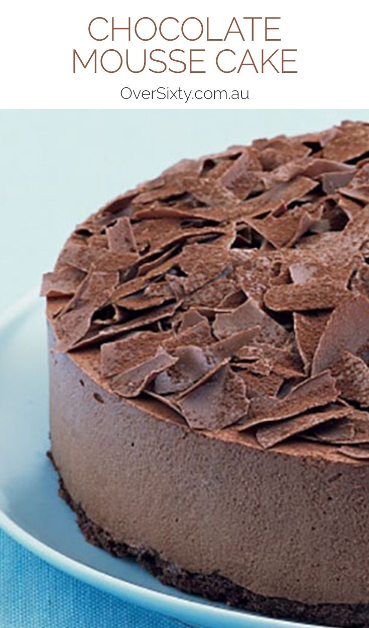 Chocolate Mousse Cake - this decadent cake is a little more complex than some of our recipes, but it's well worth the effort if the end result is an amazing dessert.