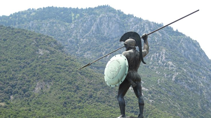 "480 BC - Spartan King Leonidas, 300 Spartans, and their allies make a sacrificial last stand at Thermopylae against Xerxes and the Persians. King Xerxes demands the surrender of the Greeks weapons, to which King Leonidas replies, ""Molon Labe"", or ""Come and take them."""