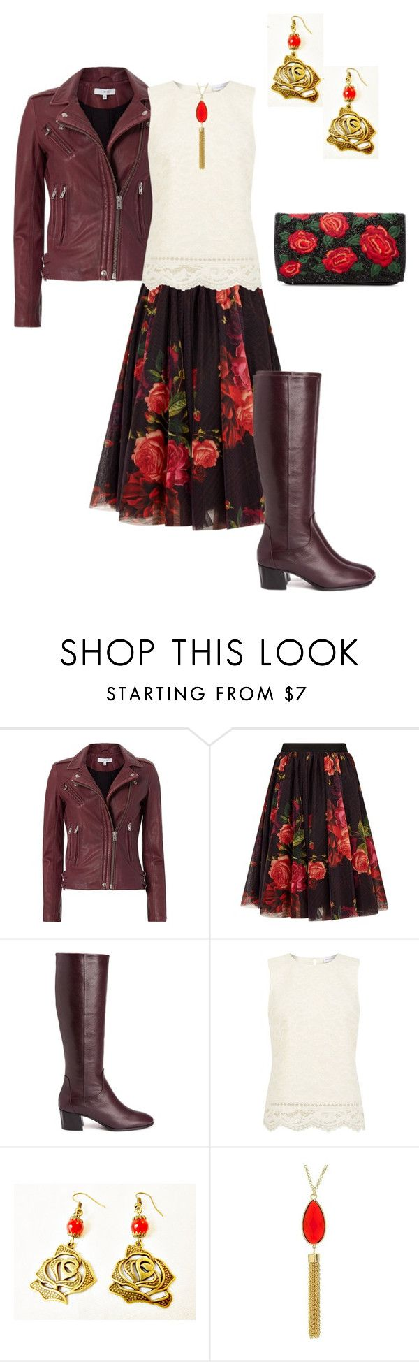 """Autumn Rose 2016"" by rovereddo ❤ liked on Polyvore featuring IRO, Ted Baker, Aquatalia by Marvin K., Warehouse, Target and Alice + Olivia"