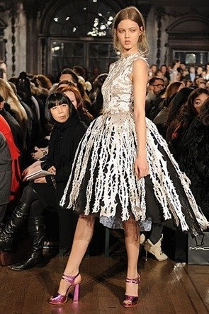 Giles Deacon is a genius - how stunning is this cut up dress?