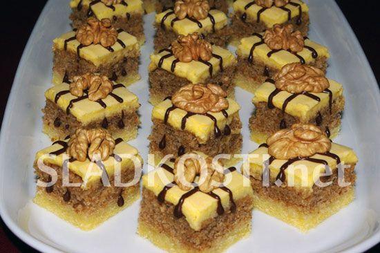 Linecké kostky ořechové