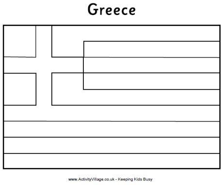 Coloring Flag Greece Grecian Gala Greece Activity