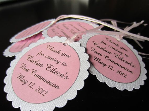 First Communion Favor Tags by boutiquesheek on Etsy, $11.50