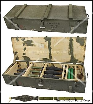 Grenade, Inert, RPG-7, Wooden Crate of Six