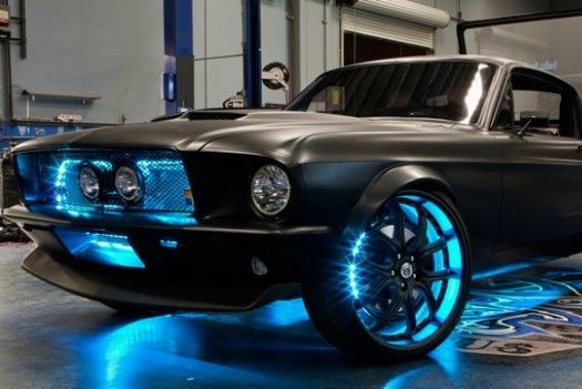 MICROSOFT CREATES A TECHED-OUT FORD MUSTANG...present day Kit!Lights, Xbox 360, West Coast Custom, Blue, Westcoastcustom, Matte Black, Windows Phones, Dreams Cars, Ford Mustangs