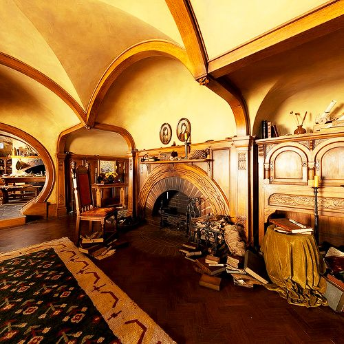 I'd like to stay in a hobbit hole, for just one night. Or build a home similar…