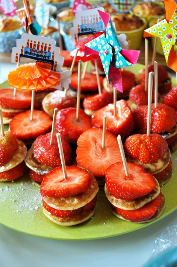 Strawberry Pancake Skewers