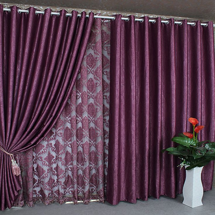 Thermal and Energy Saving Curtains and drapes online in purple color