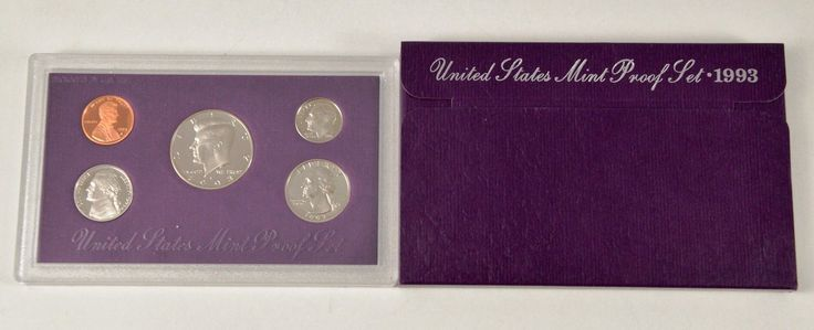 #coins MBarr 1993-S 5 Coin Set - United States Proof Set please retweet