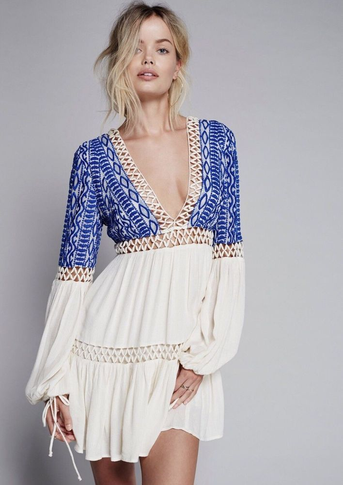 560ba060d00 Free People From Dusk Till Dawn Mini Dress Crochet Embroidered  Anthropologie 12  fashion  clothing  shoes  accessories  womensclothing   dresses (ebay link)