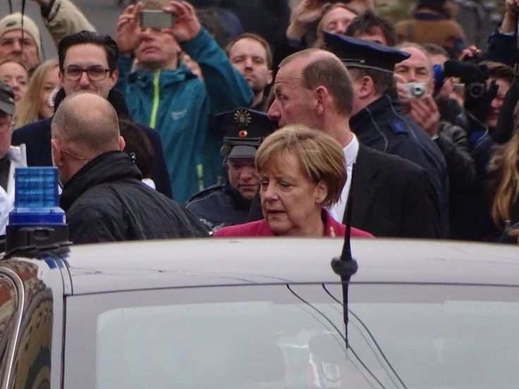 Angela Merkel having a busy day