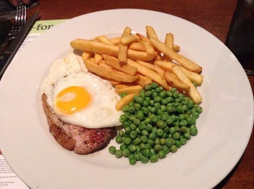Gammon, egg, chips & peas – Recipe of the day