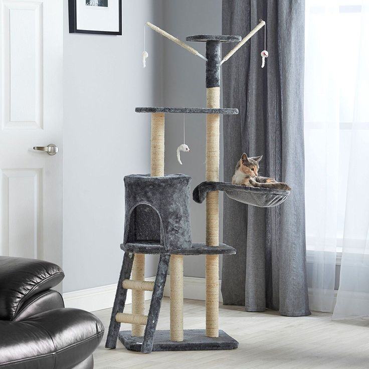 Cat Activity Centre Scratching Post Toy Bed Kitten Scratcher Tree Large Tower UK | eBay