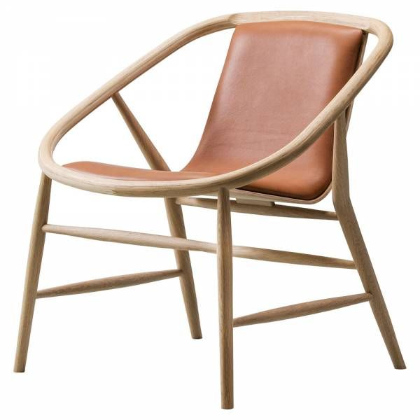 Eve Lounge Chair Leather Lacquered Oak Chair Design Wooden Fredericia Furniture Upholstered Chairs
