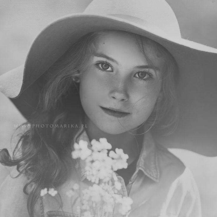 girl with flowers, vintage photo