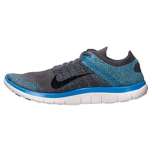 Nike Free 4.0 Flyknit Mens Running Shoes Photo Blue/Dark Grey/Black 631053 014
