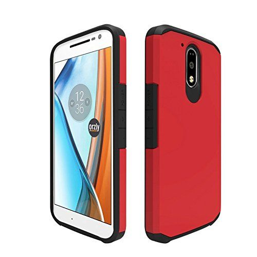 nice Orzly® Duo-Armour Case for MOTO G4 / MOTO G4 PLUS (2016 Lenovo Version of Motorola Model SmartPhone) Slim-Fit Dual Layer Protective Case - RED