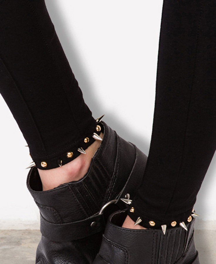 Spiked & Studded Leggings  #capsule2point1 #webexclusive
