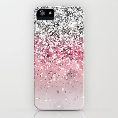 Pink. Pink Glitter. Pink Glitter Phone Case. iPhone Case. Pink Glitter Accessories. Pretty in Pink.